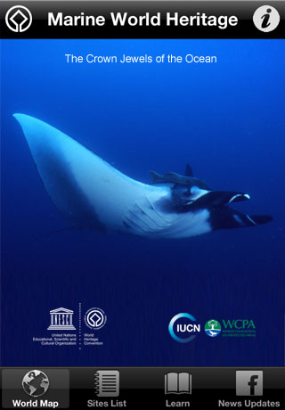 Marine World Heritage App Screenshot